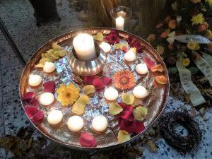 Trauerritual mit Kerzen, Kerzenritual