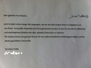Monika Reuter Trauerredner Trauerrednerin